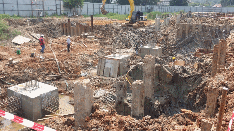 Sep 2015 - Progressive Construction of Foundation