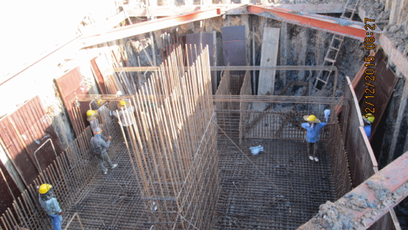 Dec 2015 - Construction of pile cap