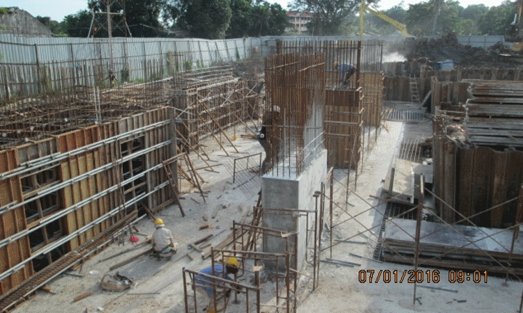 Jan 2016 - Construction of basement column