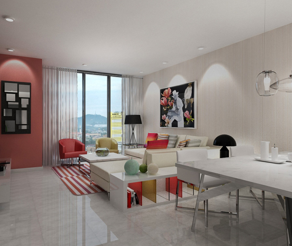 Type B - 2 Rooms Apartment (Living Hall)