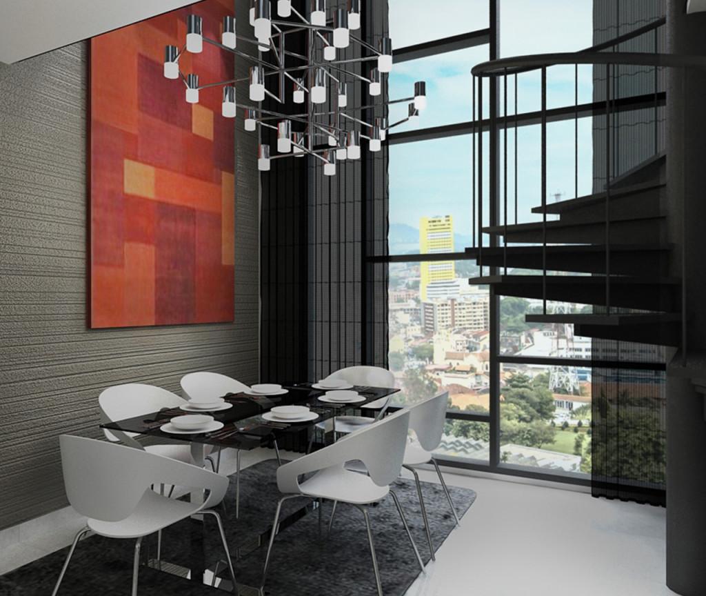 Type C (Living) - Duplex (Dining Hall)