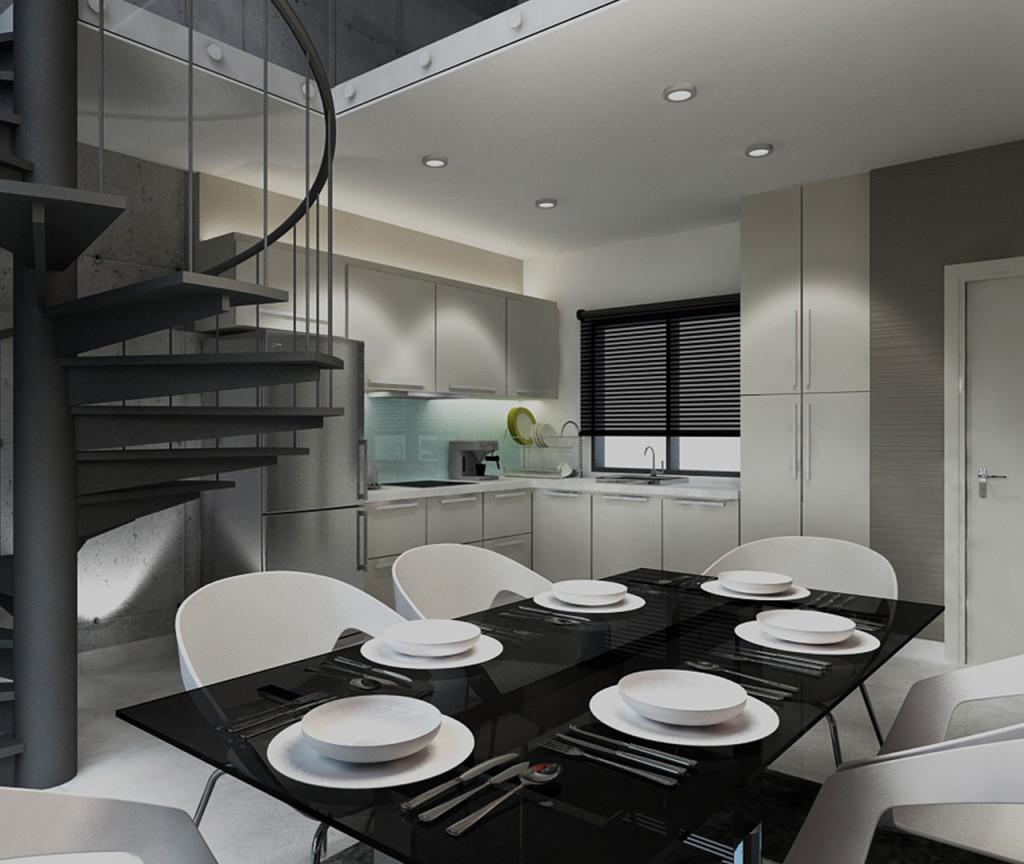 Type C (Living) - Duplex (Kitchen)