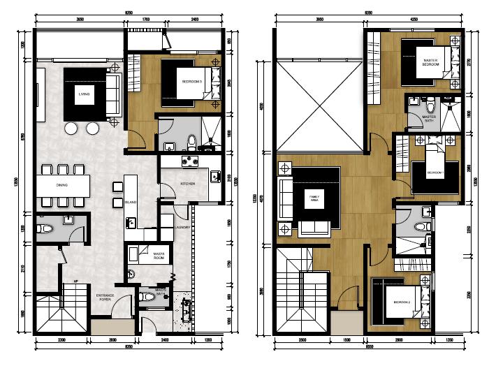 Type P2 - Penthouse Suite (2,088 sqft)