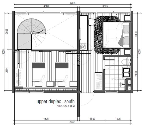 Type C - Duplex Upper Floor Layout