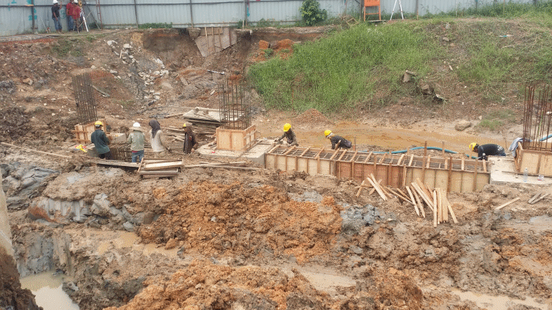 Aug 2015 - Progressive Construction of Foundation