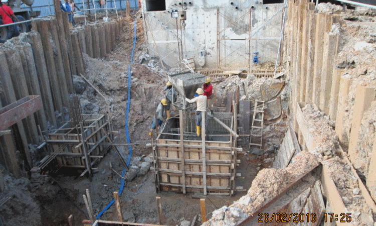 Feb 2016 - Pilecap concreting