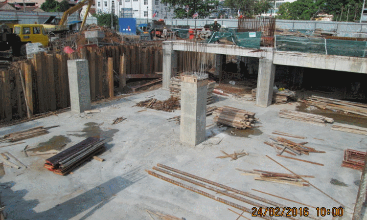 Feb 2016 - Sub-basement slab