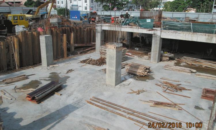 Feb 2016 - Sub-basement slab