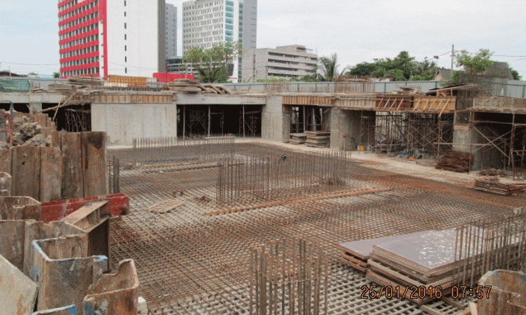 Jan 2016 - Construction of basement floor slab