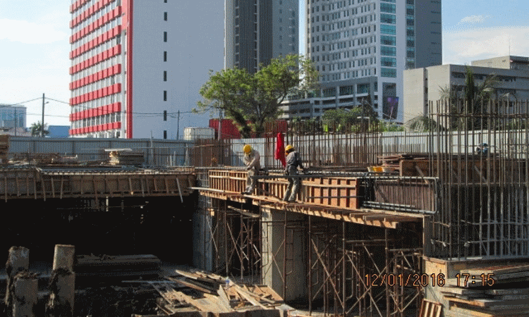 Jan 2016 - Construction of ground floor slab