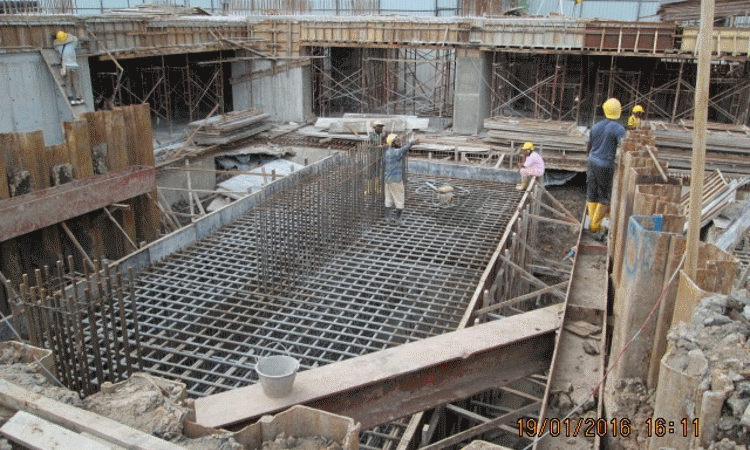 Jan 2016 - Construction of pile cap