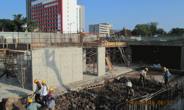 Mar 2016 - Sub-basement and ground floor slab