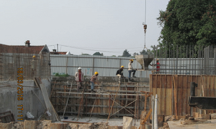 Mar 2016 - Sub-basement retaining wall 2